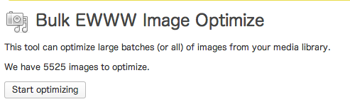 Bulk Optimize  覚醒する  CDiP  WordPress 1