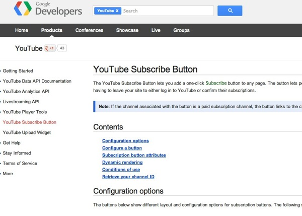 YouTube Subscribe Button  YouTube  Google Developers