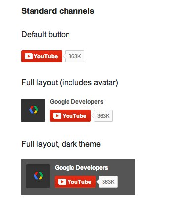 YouTube Subscribe Button  YouTube  Google Developers 1